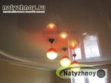 2-х уровневый потолок на кухне, вариант 'Радиус' (вечер)