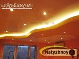 2-х уровневый потолок в детской спальне, вариант 'Морская волна'.